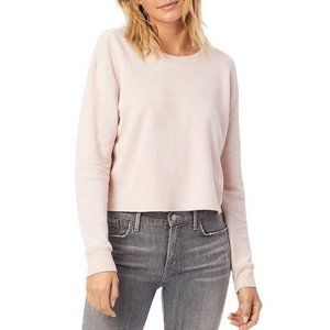 Alternative Thermal Cropped Tee L Pink Crew Neck L